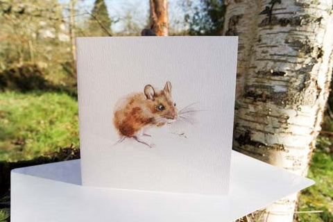 Harvest Mouse - Card - watercolours by rachel