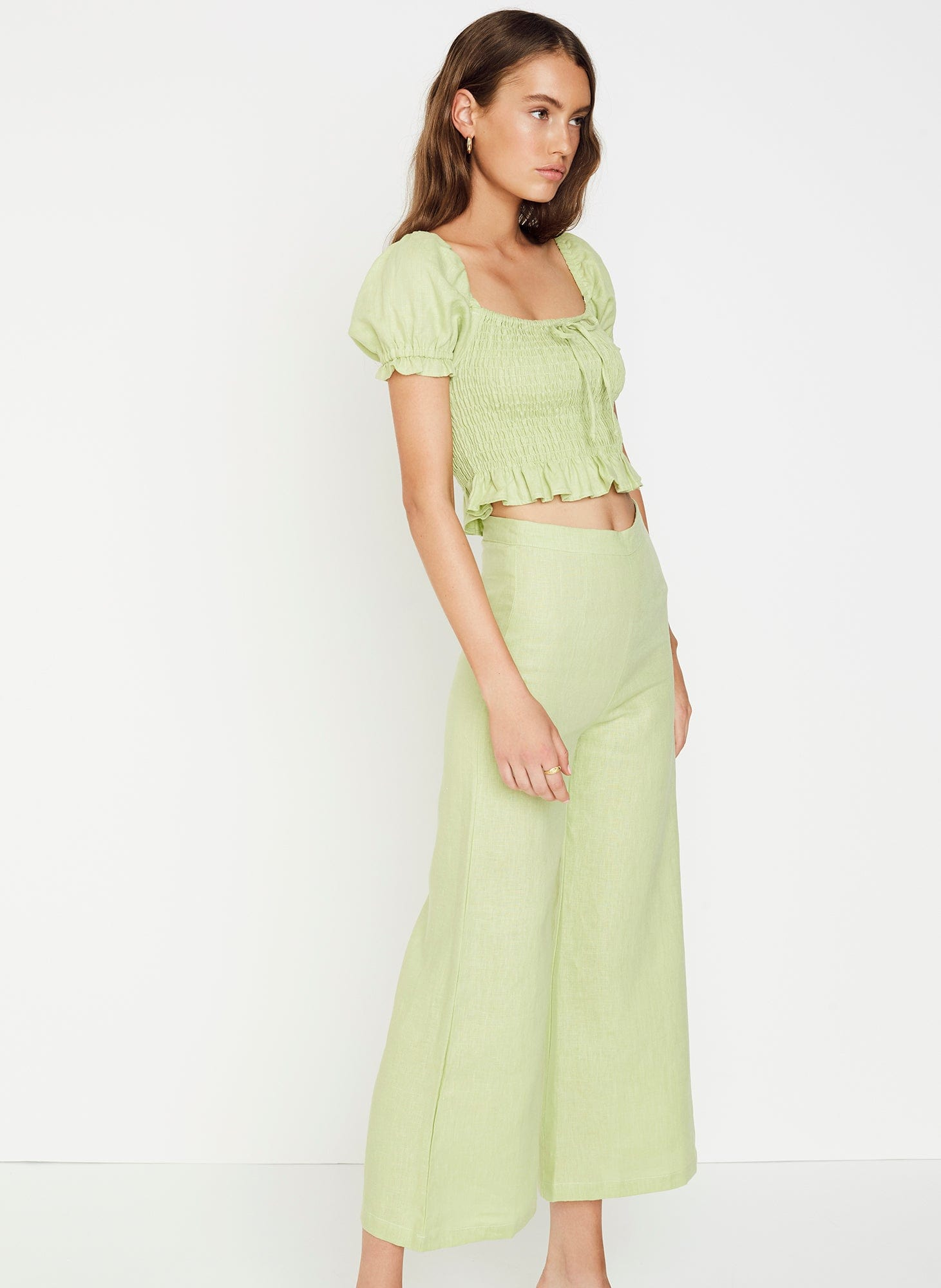PLAIN WASHED LIME - MARIE TOP