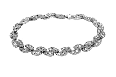 Touchstone Ad Multiple Marquise Bracelet- FGBRT001-01A--W