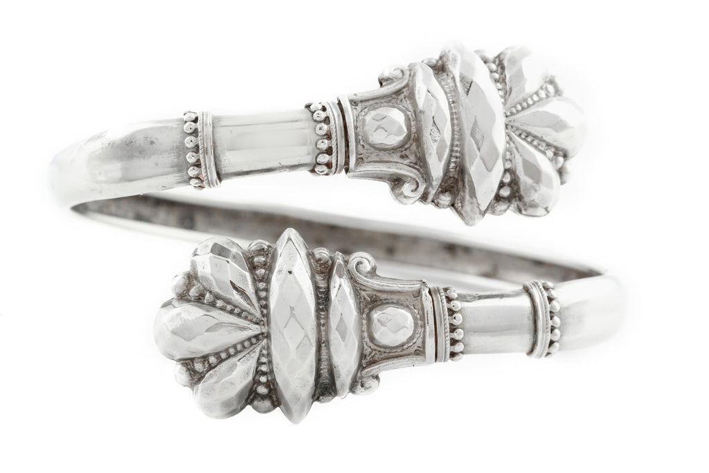 Victorian Silver Bypass Bangle