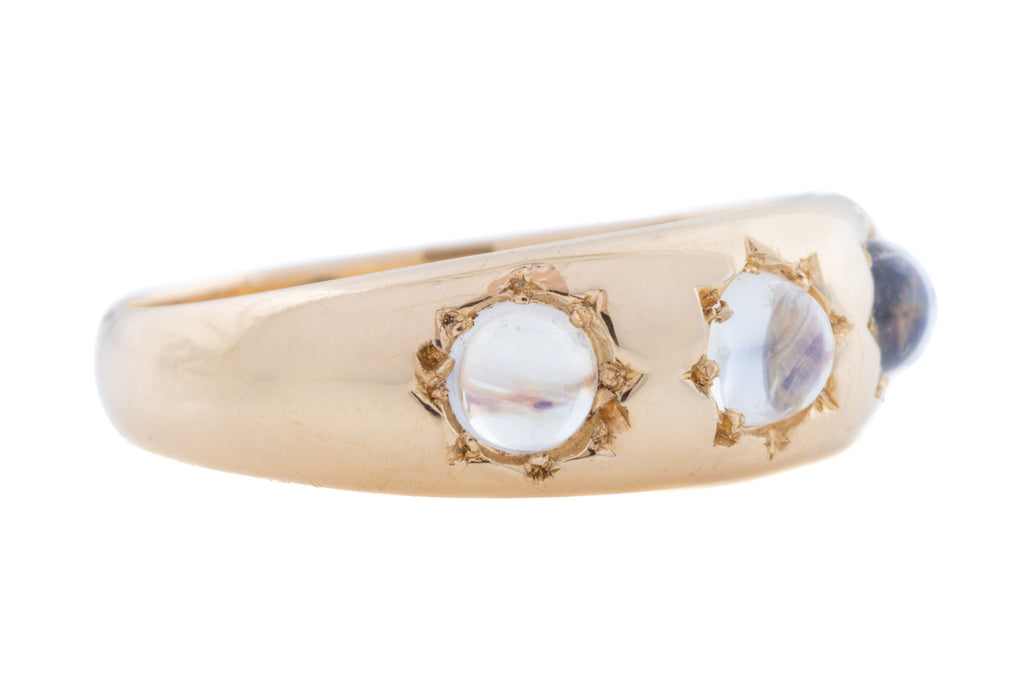 "15ct Gold Chunky Moonstone ""Gypsy"" Ring c.1901"
