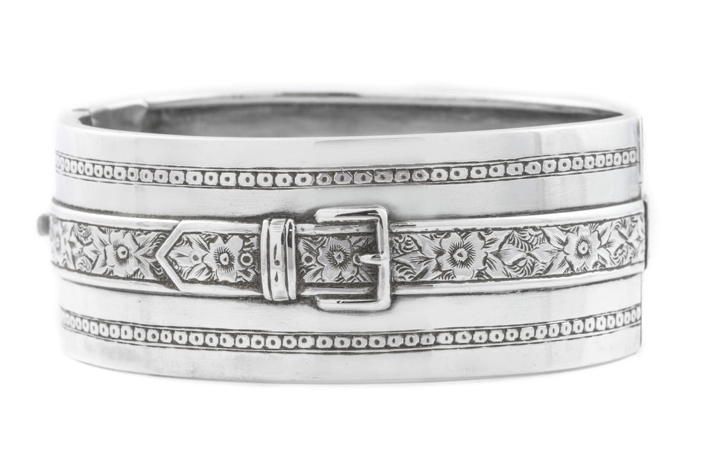 Victorian Silver Buckle Bangle