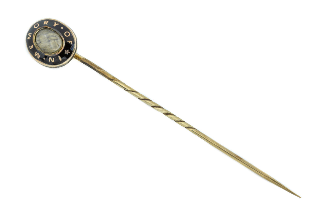 9ct Gold Victorian In Memory Of Stick Pin