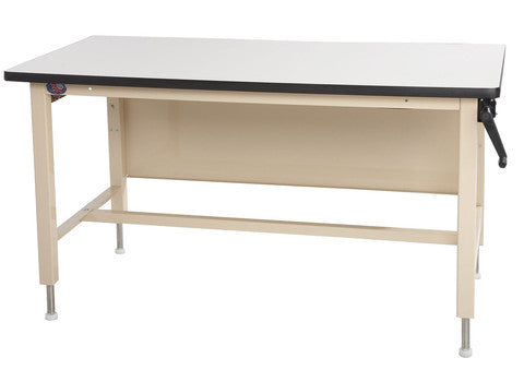 Ergo-Line Height Adjust HD Base Bench with Chem-Guard Laminate Surface
