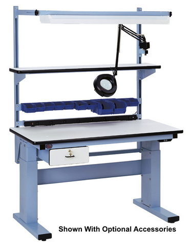 Electric Height Adjust Base Bench with Chem-Guard Laminate Surface
