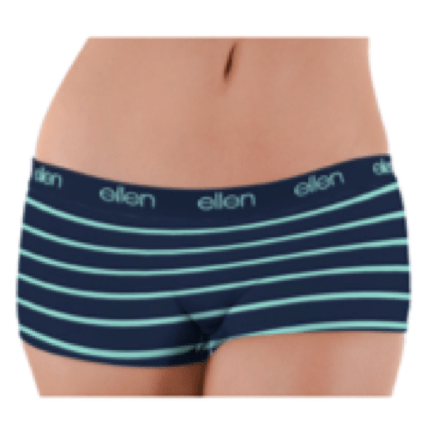 ellen Show Women's Boyshorts Mint Stripe