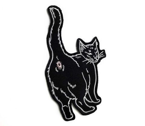Cat Butt - Embroidered Patch