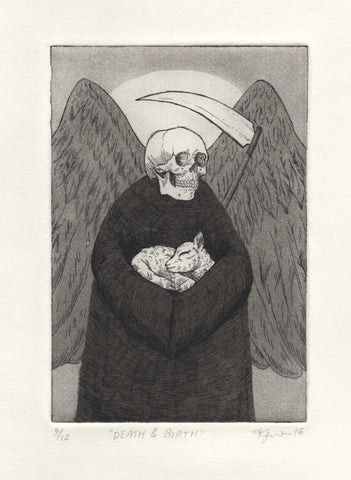 SALE // Death & Birth - Limited Edition Hand-Printed Etching Print