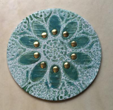 Polymer Clay Tutorial How to stencil a Mandala Veneer and use hot fix cabochons on Polymer Clay TV