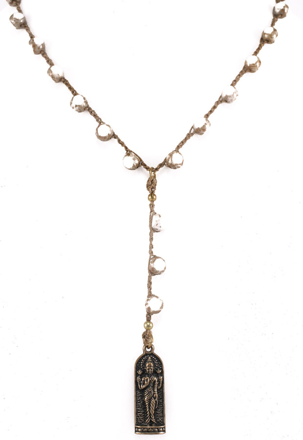 """MANTRA"" Standing Buddha Pendant Y-Necklace - 39"""
