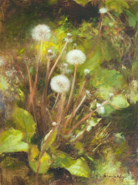 """Bloom Where You Are Planted"" Dandelion Original Oil Painting"