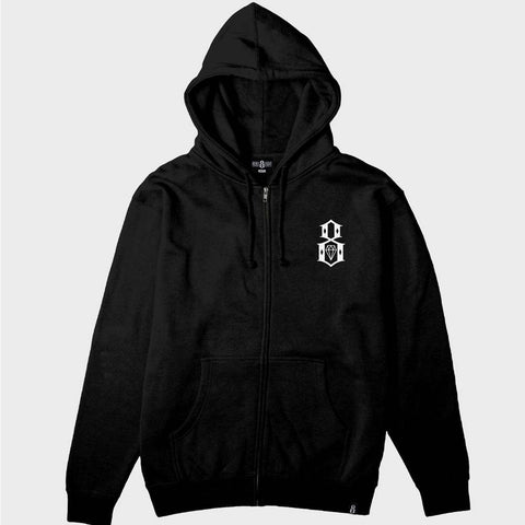 Rebel8 Zip-Up Logo Pullover Hoodie
