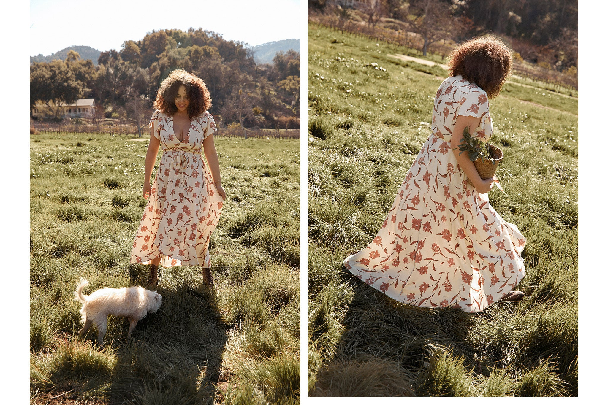 The Autumn Dress | Oatmilk Floral