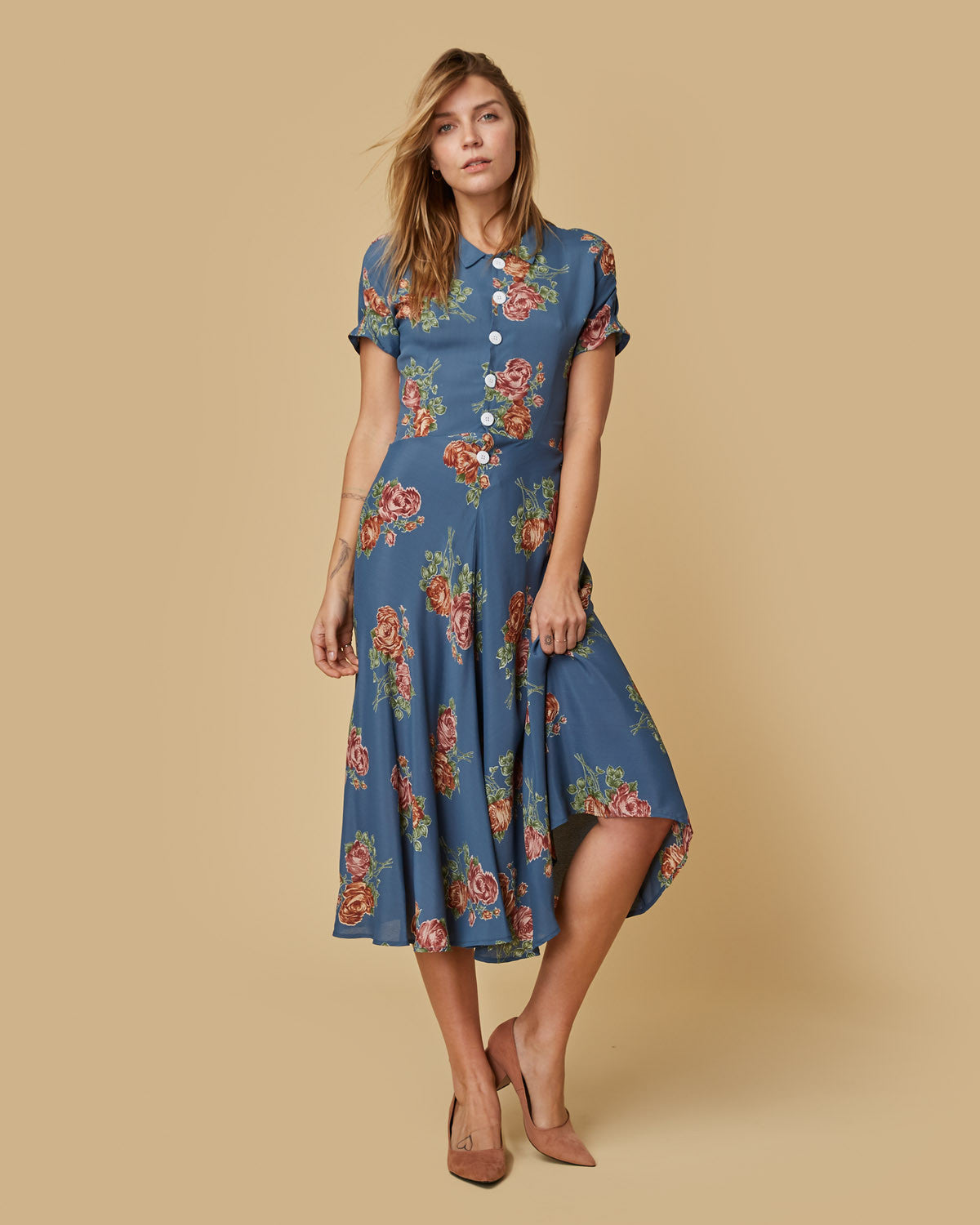 The Nora Dress | Teal Floral