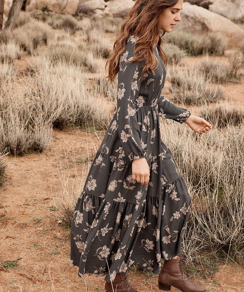 The River Dress | Slate Floral