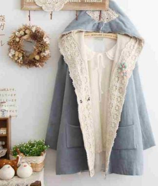 Loose Hooded Cute Mori Girl Style Cardigan