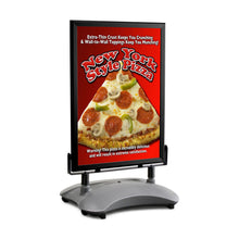 Load image into Gallery viewer, Black sidewalk sign with sand/water-filled base for poster size 30X40 - 1.7 inch profile - Snap Frames Direct