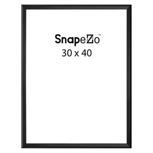 Black sidewalk sign with sand/water-filled base for poster size 30X40 - 1.7 inch profile - Snap Frames Direct
