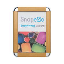 "Load image into Gallery viewer, 24x36 Light Wood SnapeZo® Round-Cornered - 1.25"" Profile"