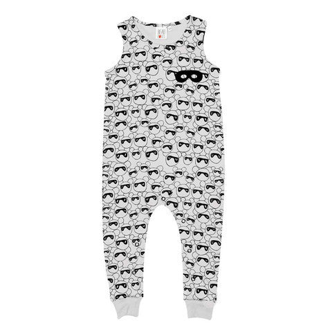 Masked Bears, Sleeveless Romper Jumpsuit