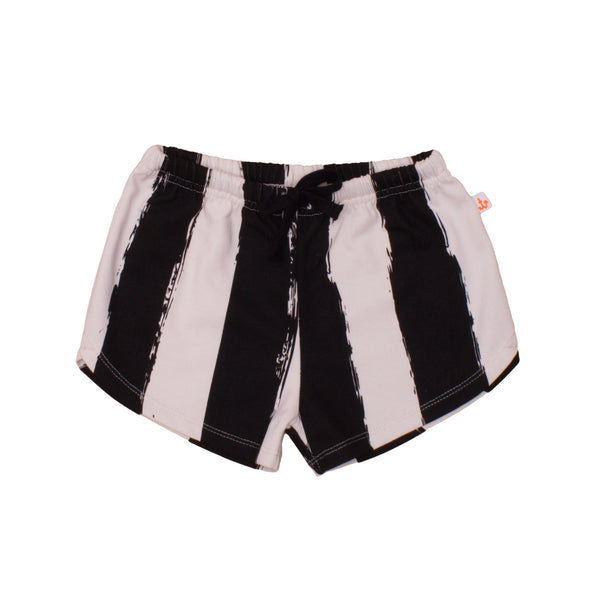 Baby & Kids Shorts, Black Stripes