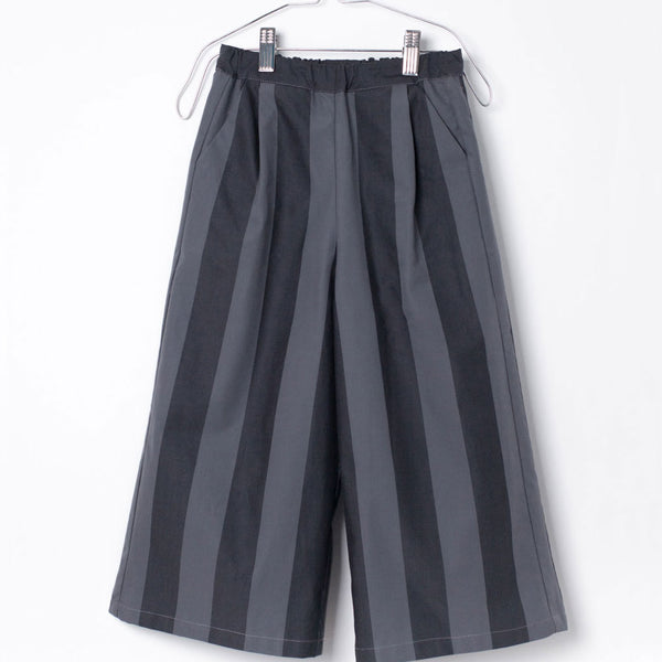 Cala Pants, Black & Grey Stripes