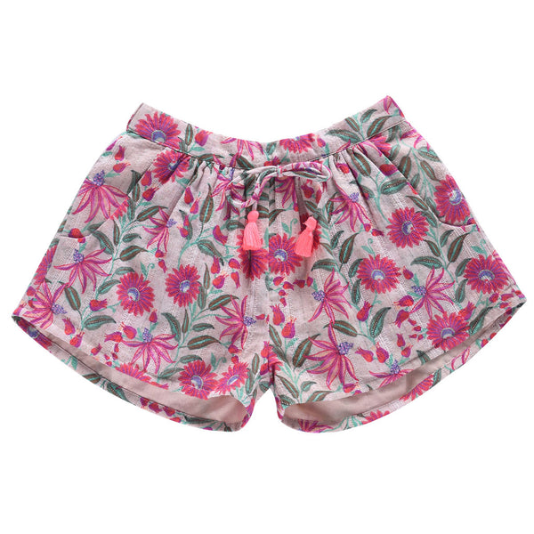 Nutsy Shorts, White Flower