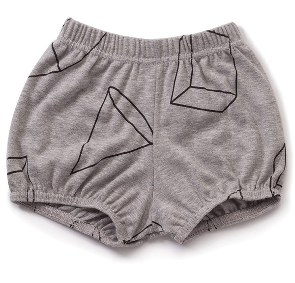 Geometric Yoga Shorts, Heather Grey