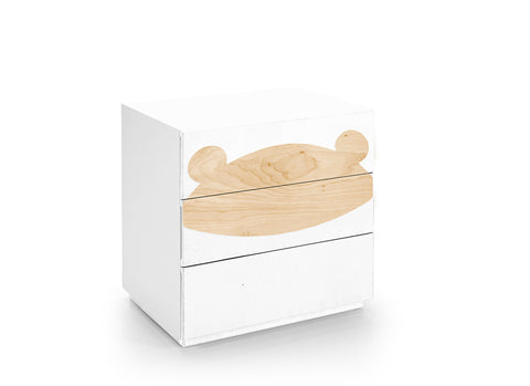 Fox Drawers - White & Teddy Figure