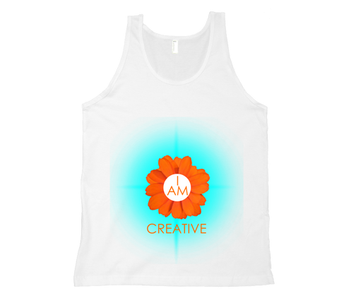 Sacral Chakra - I Am Creative Tank Top - White