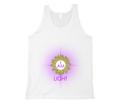 Crown Chakra - I Am Light Tank Top - White