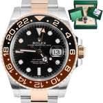 BRAND NEW NOS UNWORN Rolex GMT Master II Root Beer Rose Gold 126711 CHNR Watch