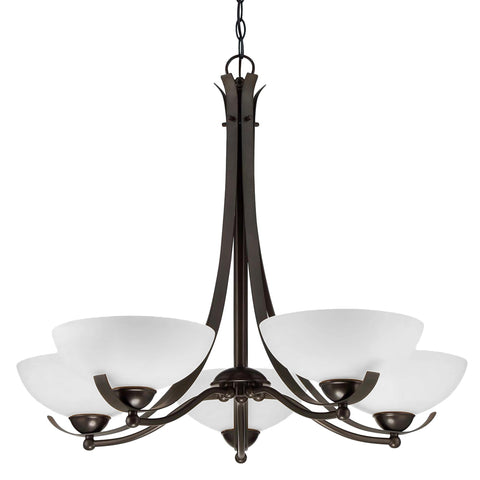 Bordeau 5 Light Chandelier - Waterbury Design Works