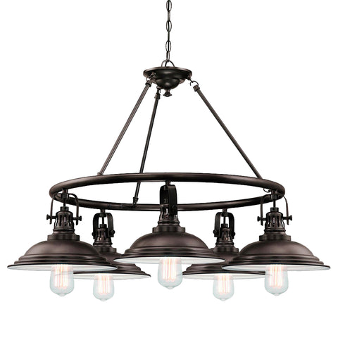 The Bowery 5 Light Chandelier - Waterbury Design Works