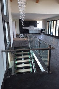 Glass Railing with Stainless Posts