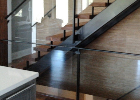 Glass Railing with a Contemporary Feel