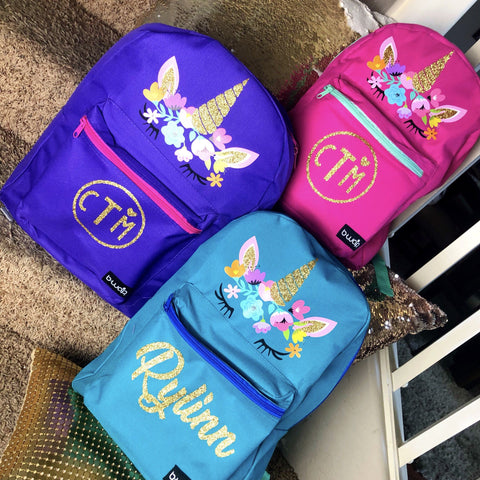 """Unicorn Girl"" Personalized Backpack"
