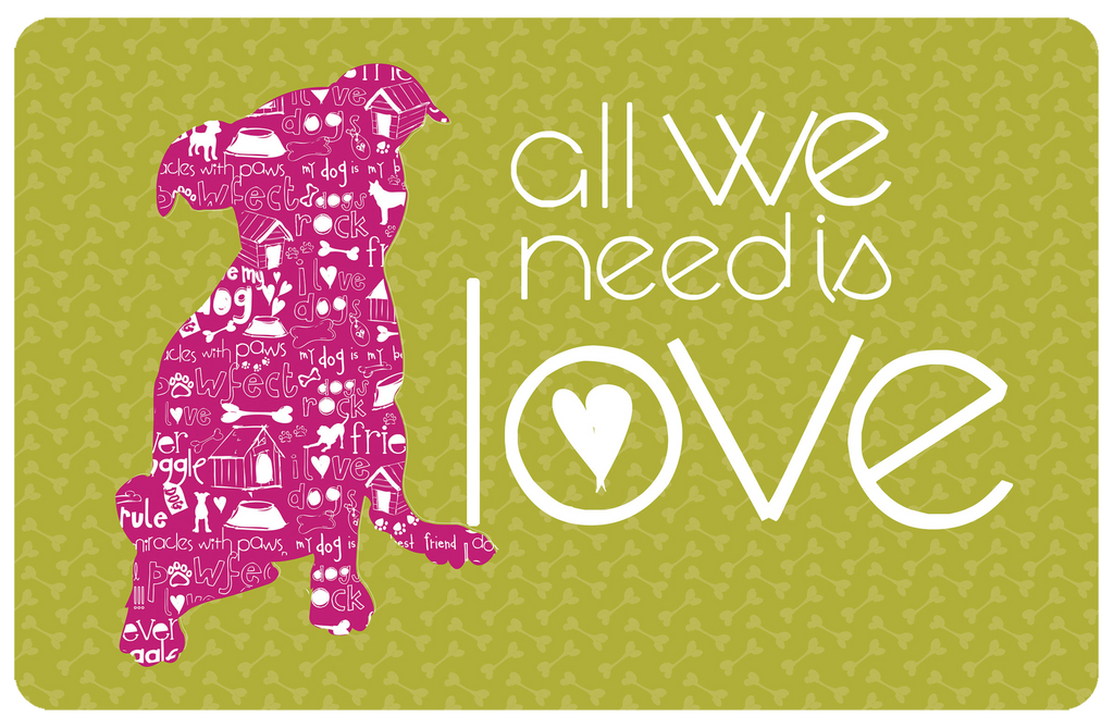 "Wholesale- (2 units) All We Need Is Love 23""x36"" Accent Mat by Amylee Weeks"