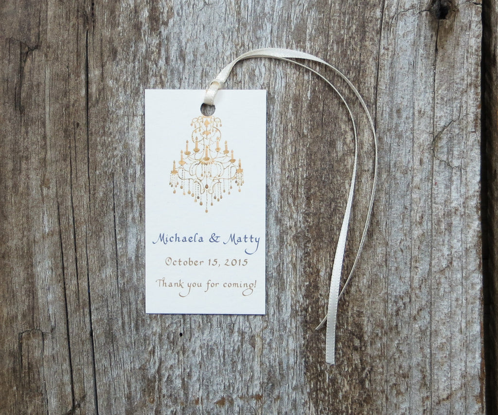 Gold Chandelier Favor Tags