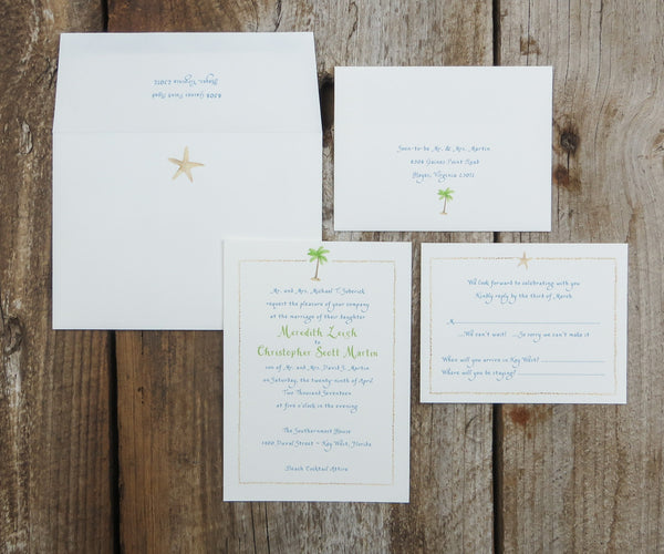 Palm Tree Wedding Invitation