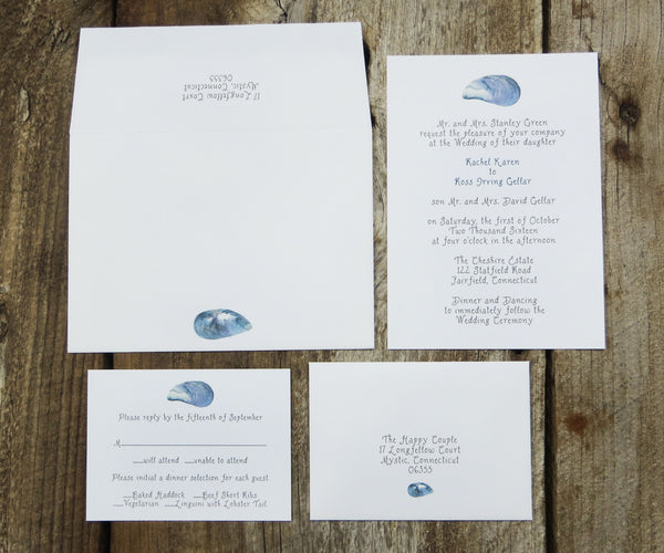 Mussel Shells Wedding Invitation