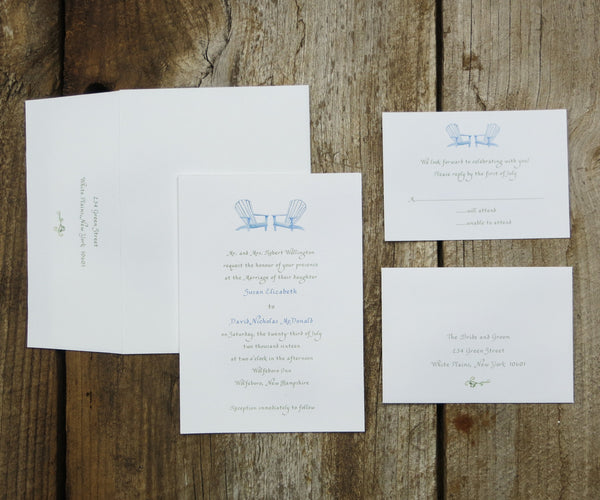 Adirondack Chairs Wedding Invitation
