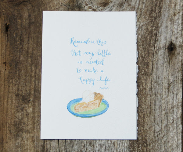 Apple Pie Quote Card
