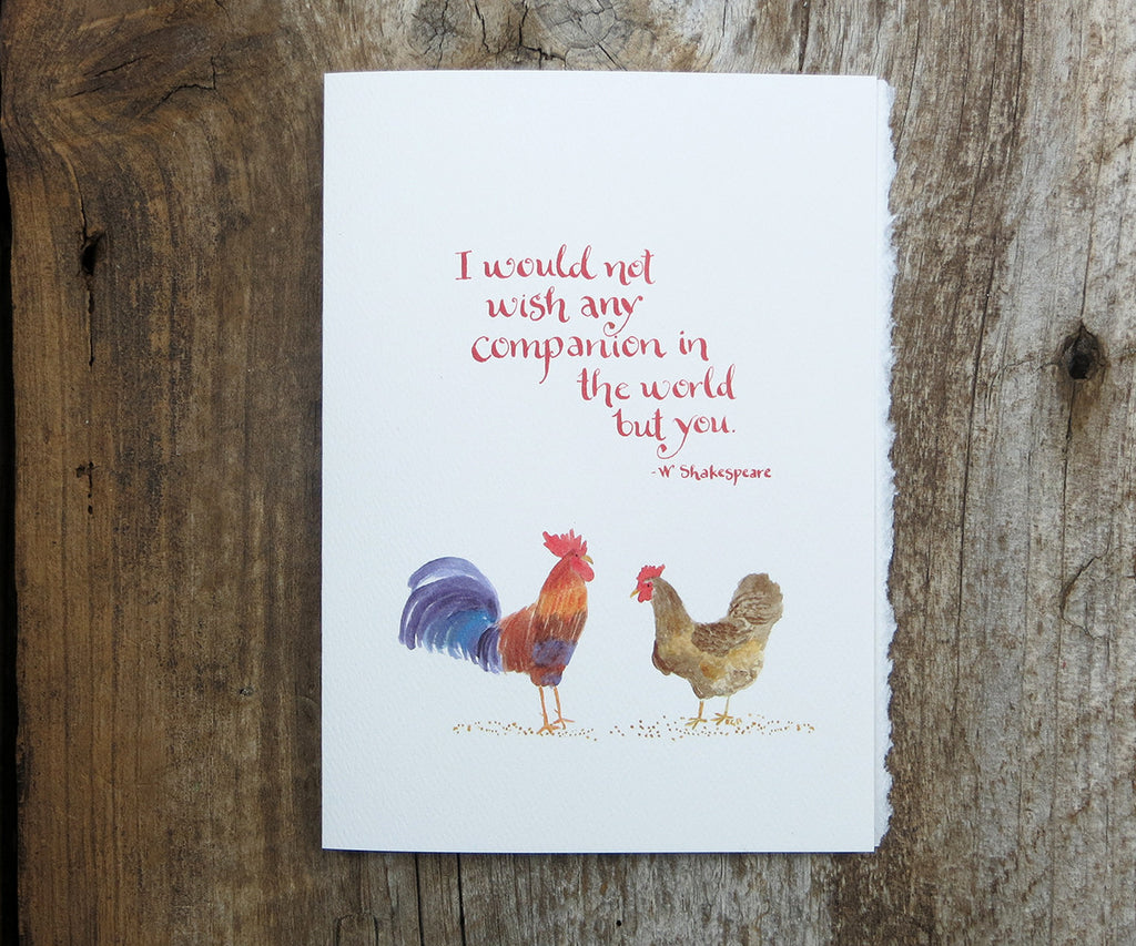 Chickens Quote Card