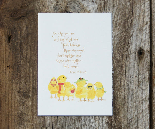Chicks Quote Card
