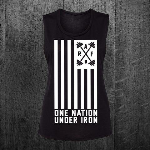 """ONE NATION UNDER IRON"" Muscle Tee"