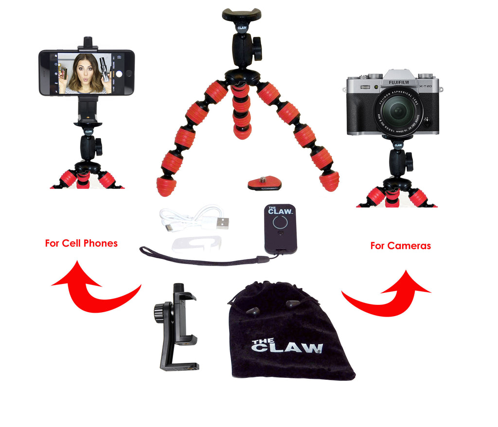 Now available The CLAW® Large Flexible Travel Tripod