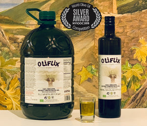 Oliflix Extra Virgin Olive Oil 5Liter and 750ml bottles