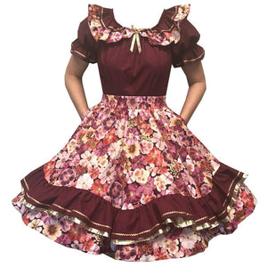 Floral Cosmos Square Dance Outfit, Set - Square Up Fashions