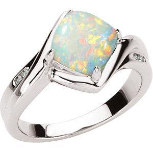 14K White Gold Opal Ring Ring from [shop name]
